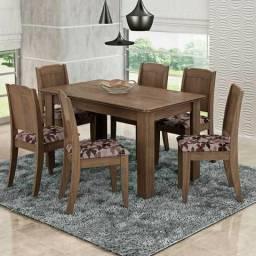Mesa de jantar com 6 Cadeiras - Entrega Rápida-979482270