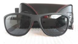 3b82d9d6c3282 Óculos Ray-ban Rb8351m Scuderia Ferrari Preto Fosco Polarizado - Importado  e Novo