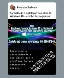 Formatação e instalação de windows