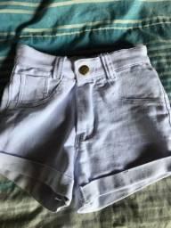 Short Jeans Branco Novo