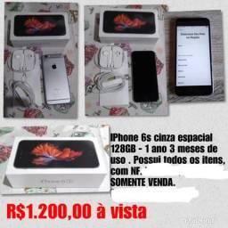 IPhone 6s Cinza Espacial 128GB