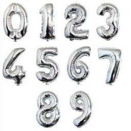 Balão Metalizado 16CM Prata