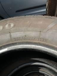 Jogo de pneus aro 17 / 65 meia vida