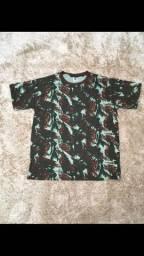 Camiseta camuflada 100% algodão
