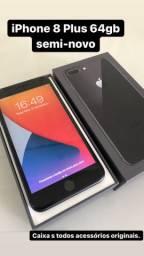 IPhone 8 Plus 64gb preto completo
