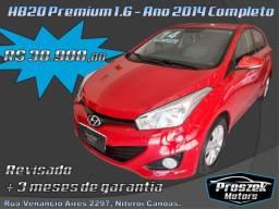 Hyundai HB20 Premium 1.6 - Ano 2014 Completo
