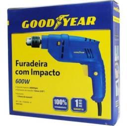 Furadeira De Impacto 600w Goodyear 220v 3/8'' Gy-di-10600k-3