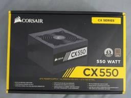 Fonte Corsair 550W 80 Plus Bronze CX550