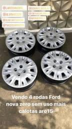 Rodas Ford aro 15 + calotas