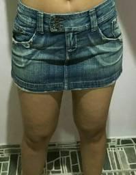 Minisaia jeans comprar usado  Natal