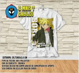 Camisa camiseta do anime boruto filho do naruto