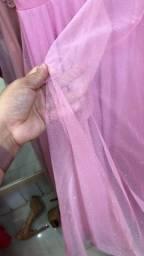 Vendo ou alugo vestido de festa longo tecido fino debutante