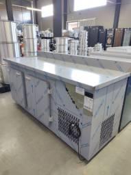 Título do anúncio: GBFE-190 Balcão de Encosto Refrigerado em Inox 1,90m com 2 Portas -Gelopar
