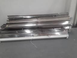 Vendo calhas de inox 2,4 m - Luminarias