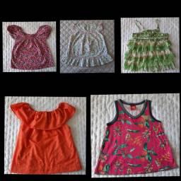 10 - Blusas infantil tamanho 04 e 06