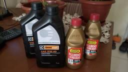 Kit óleo e fluido de freios lacrados