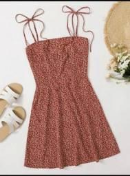 vestido boho vermelho