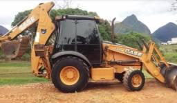 Retro escavadeira case 580n 4x4 2015