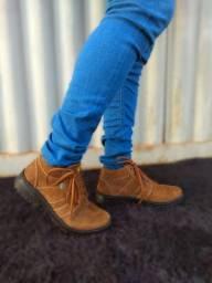 Queima de estoque botas de couro legítimo