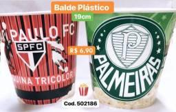 Balde Pipoca Time São Paulo e Palmeiras