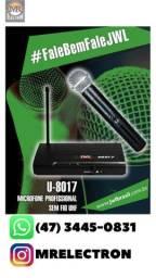 Microfone U-8017 sem fio