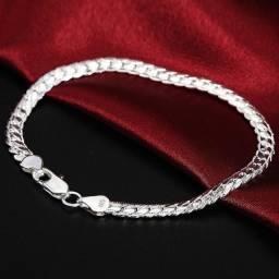 Conjunto de pulseira de prata esterlina 925, 2 peças 6mm, colar bracelete