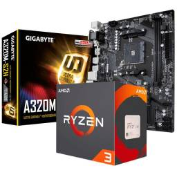 Kit Upgrade Amd Ryzen 3 3200G + Gigabyte GA-A320M-S2H + 8GB Ddr4 2666Mhz Kingston
