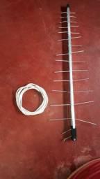 Antena espinha de peixe + Mais  5  MT de Cabo só 60 reais
