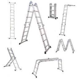 Escada Multifuncional 4x3 Em Alumínio 12 Degraus Vonder