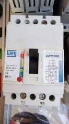 Disjuntor tripolar dwa 160l 160 amperes weg usado