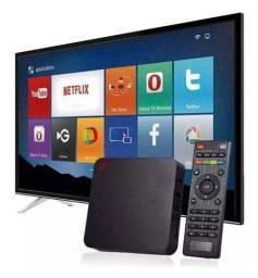Com box MX 4k Pro 5G! Sua TV vira uma Smart TV! 4GB + 32GB