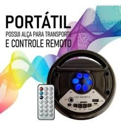 Caixa De Som Amplificada Portátil Bluetooth