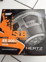 """Sub woofer HERTZ de 8"""" ES 200 com box novo com garantia instalado em seu carro"""