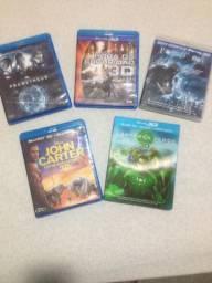 Coleção de 5 Filmes Blu Ray 3D e Blu Ray HD Originais Embalados