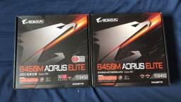 Placa-Mãe Gigabyte Aorus B450M Aorus Elite nova zero na caixa completa sem uso!
