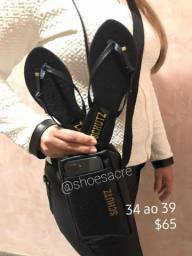Bag + chinelo  slide n34 ao 38