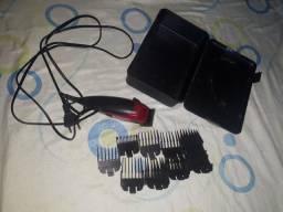Máquina de cortar cabelos wall+9 pentes.