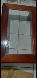 Mesa de centro - Madeira e vidro