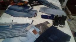 Lote + de 60 peças sapatos e roupas tudo por 120 real