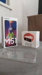 Samsung Galaxy M51 + Galaxy Fit2 troco em PC gamer ou Notebook Gamer