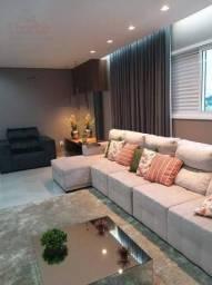 Casa de alto padrão estilo sobrado em condomínio fechado com 4/4 à venda, 300m² por R$ 1.5