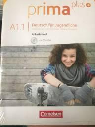 Livros de alemão novos - Prima Plus A1.1 - Arbeitsbuch + Schülerbuch e A1.2