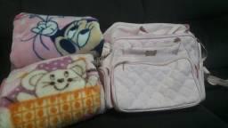 2 bolsas maternidade + 2 cobertores bebê