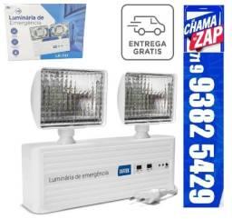 Luz Bloco De Emergência Luminária Led Bivolt 1000 Lumens