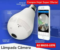 Câmera de Segurança Espiã Formato Lâmpada, a câmera pega ladrão