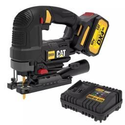 Serra Tico-Tico à Bateria 4,0Ah Brushless 18V 26MM com Bateria e Carregador DX51B CAT