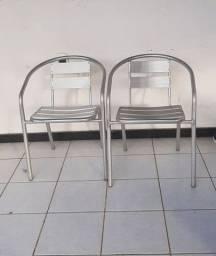 2 cadeira alumínio