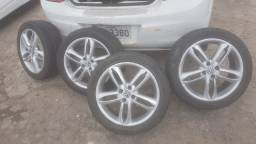 Rodas aro 17  ,4 furos, pneus seminovos