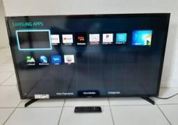 Tv smart 49 Samsung tem pé controle, pego tv com volta pra mim