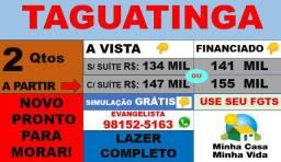 Apartamento de 2 Quartos C/S Suíte - Taguatinga Aceita financiamento- Lazer Completo